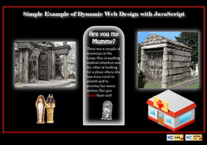 Example page of Dynamic Web Design using simple JavaScript