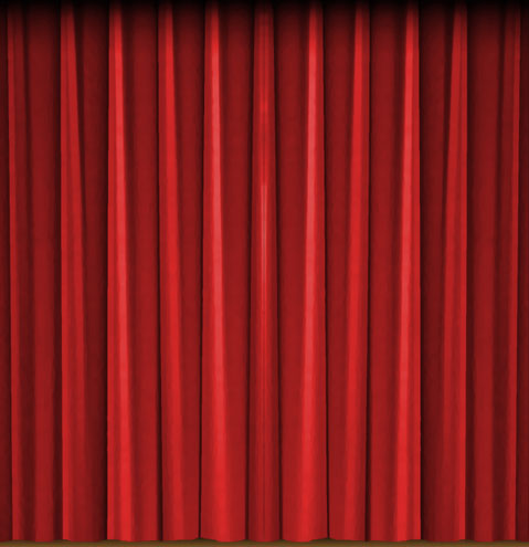 front curtain - left side