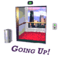 Going Up - Auto Scrolling Elevator to the top of the page